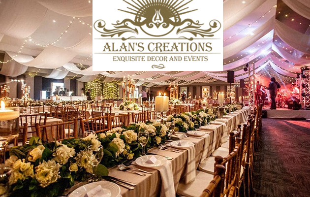 Alans creations businesses in midrand alans creations wedding decor midrand event management midrand pretoria wedding hire junglespirit Image collections